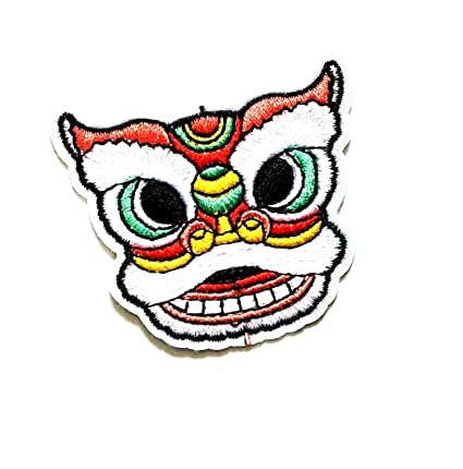 Amazon Application Lion Mask Chinese New Year Cartoon Kid Patch