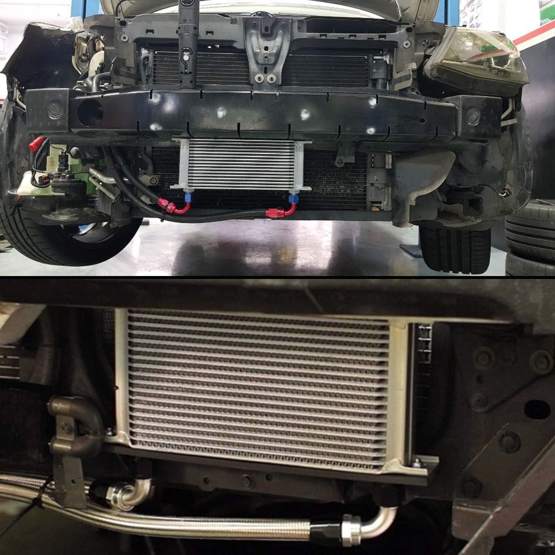 Mounting Bracket Kit Aluminum AN10 British Engine Oil cooler 25Row, Black