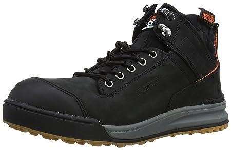 62625236003 Scruffs Men's Switchback Safety Boots T52343 Black 10 UK, 44 EU - EN safety  certified