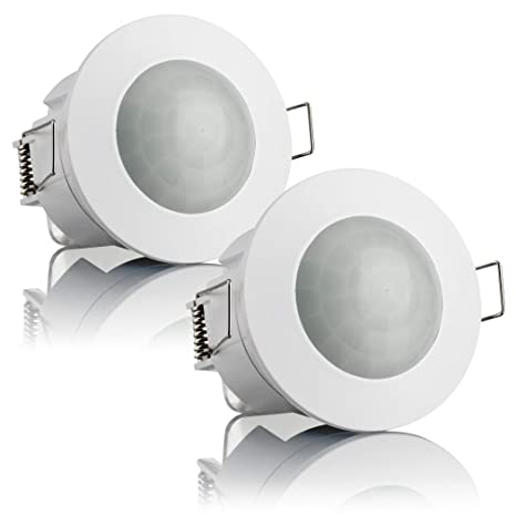 Bewegungssensor Unterputz 360° Einbau-Deckenmontage Infrarot Sensor SEBSON