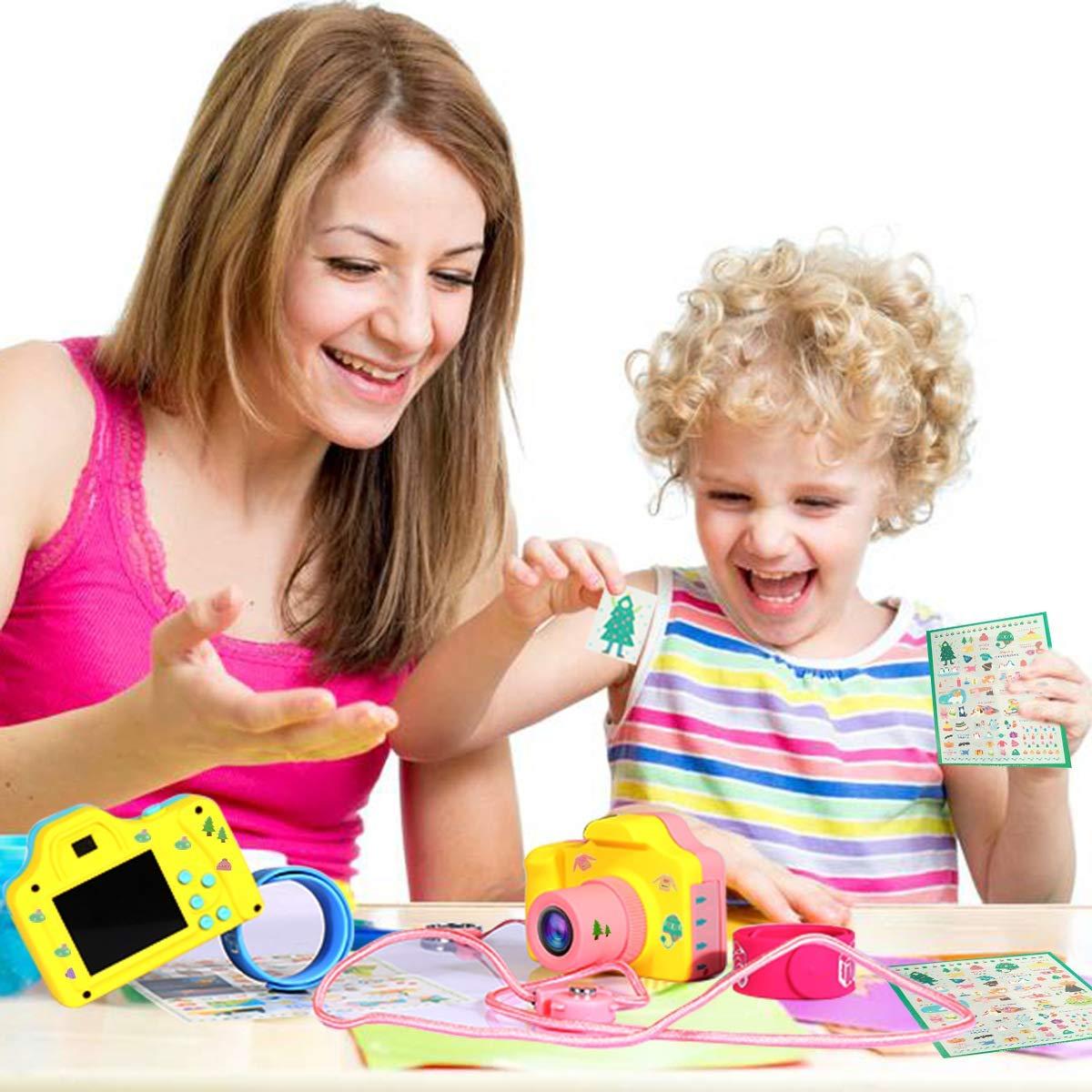 ZEERKEER HD Mini Digital Video Cameras,Kids Childrens Point and Shoot Digital Video Camera Recorders Cute Birthday for Kids (Pink) by ZEERKEER (Image #1)