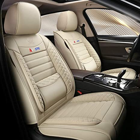 Chemu Autositzbezug Set Pu Ledersitz Zubehör Autositzbezug Set Auto Zubehör Autoinnenraum Zum Mercedes Benz W203 W204 W205 W211 W212 W213 W124 Glk Glc W164 W166 Gle Beige Auto