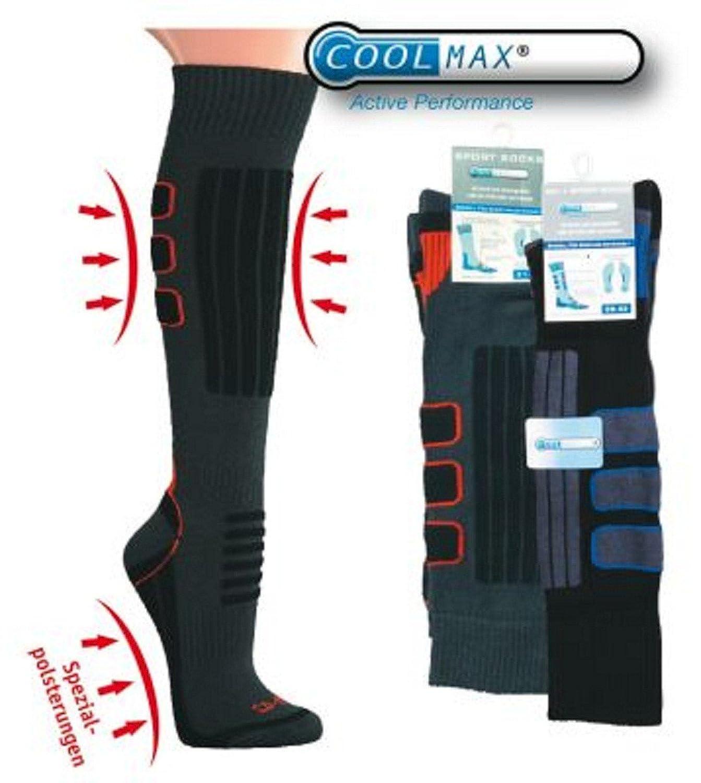 Tobeni 2 Paar Coolmax Skisocken und Snowboard Socken Funktions-Kniestrümpfe für Damen und Herren
