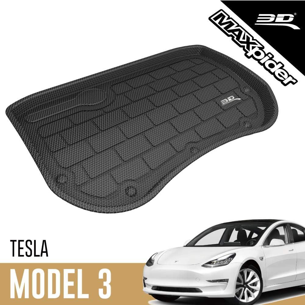 3d Maxpider Tesla Model 3 2017 2019 Passgenaue Allwetter Vordere Kofferraummatte Auto Kofferraumschutz Matte Auto