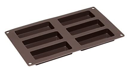 Lurch Germany Flexiform Cereal Bar/Granola Bar Mold 11 8 x 6 9 in 6 cavity  - brown