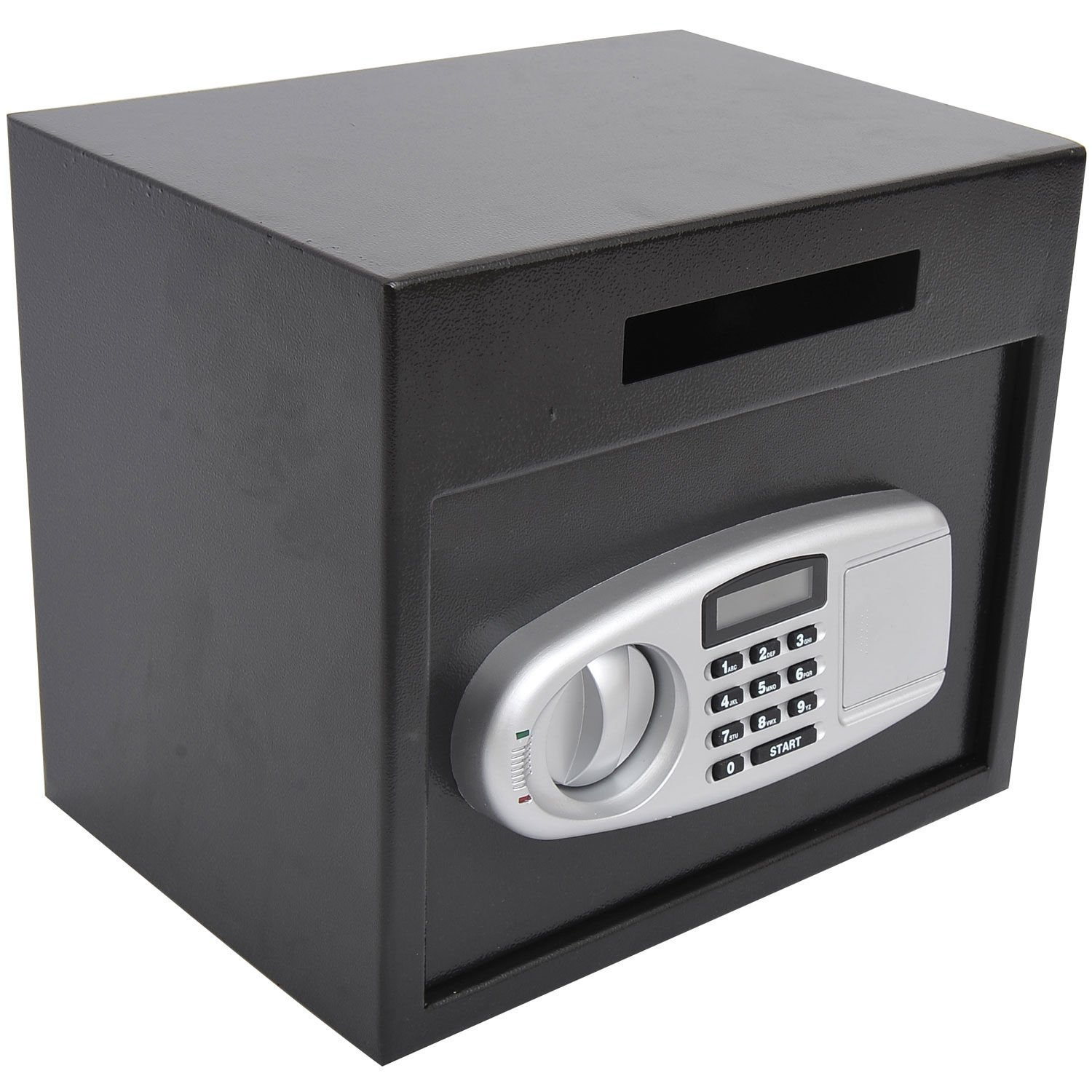 HOMCOM 12'' x 14'' x 10'' Digital Home Security Safe w/Deposit Slot - Black