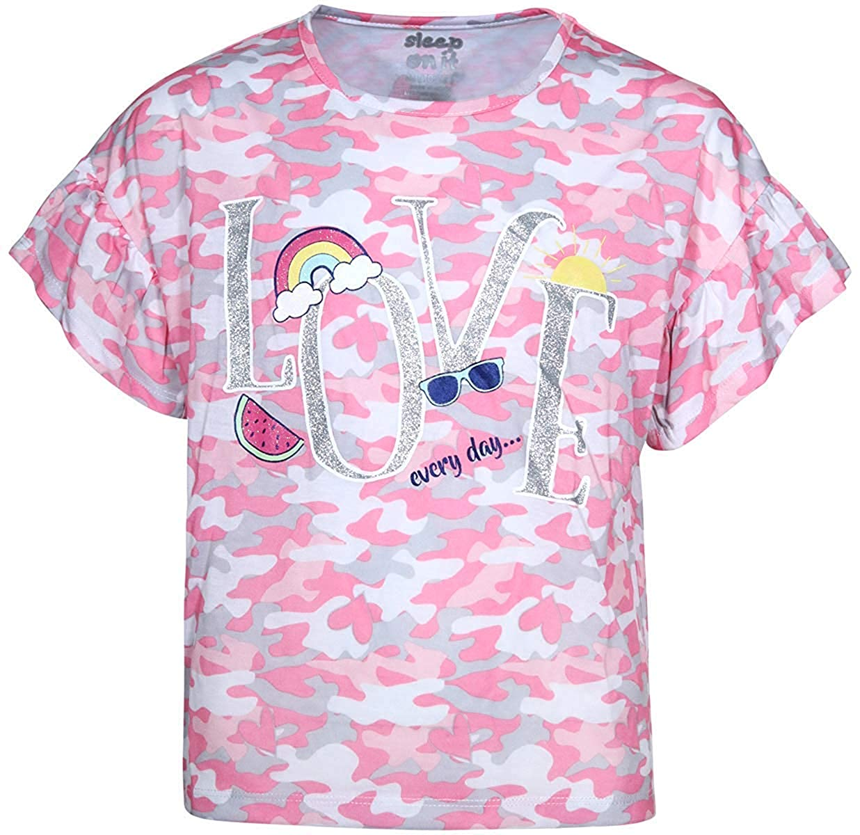 Sleep On It Girls Sleepwear Short Sleeve Tee and Shorts Pajama Set