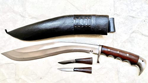 Genuine Gurkha Kukri-16 Blade American Eagle Kukri -Rosewood Full Tang Handle,Handmade in Nepal by Gurkha Kukri House