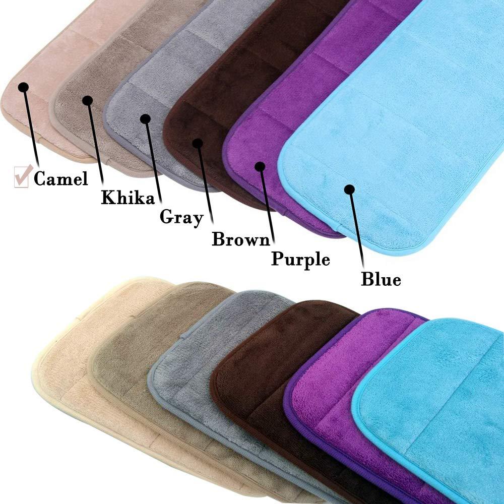 AUHOTA 1Longue et 2Courte Anti-slip Doux Respirant Clavier Coude Mat pour Domicile Bureau Table 2 Ensembles Portable Ordinateur Poignet Coude Pad M/émoire Coton Moins de Contrainte gris