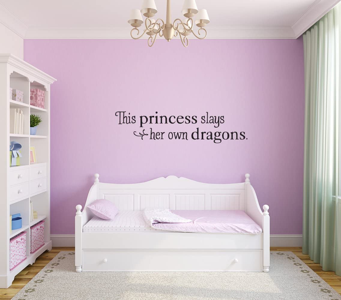 Dragon and the Princess Wall Decal Stickers