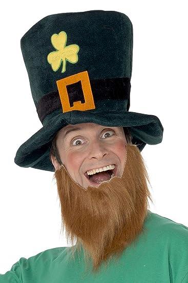 Amazon.com  Smiffy s Silly Leprechaun Hat With Beard  Smiffys  Clothing ac27eeb2168