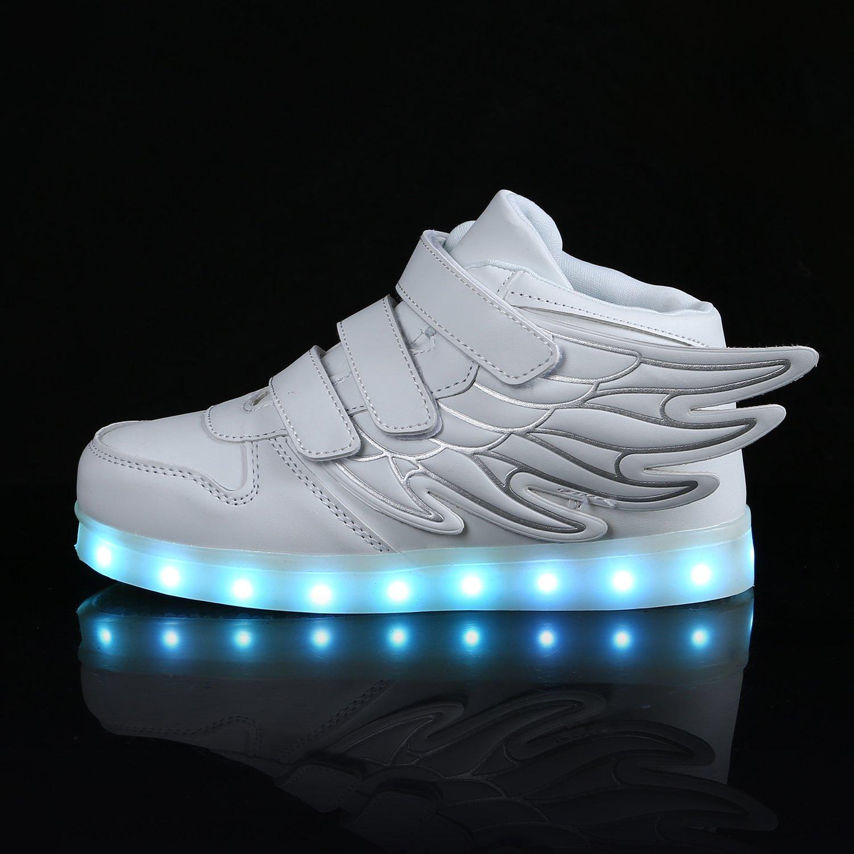SAGUARO Boy and Girls Glow up Walking Sneaker Hook and Loop Boat Light up Shoe Toddler//Little Kid