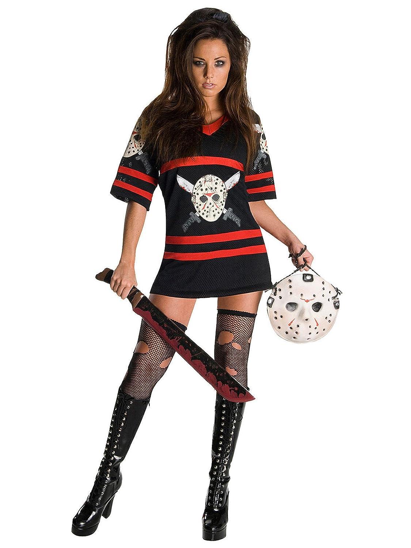 Vendredi 13 miss voorhees de halloween costume d'infirmière rouge/noir/blanc