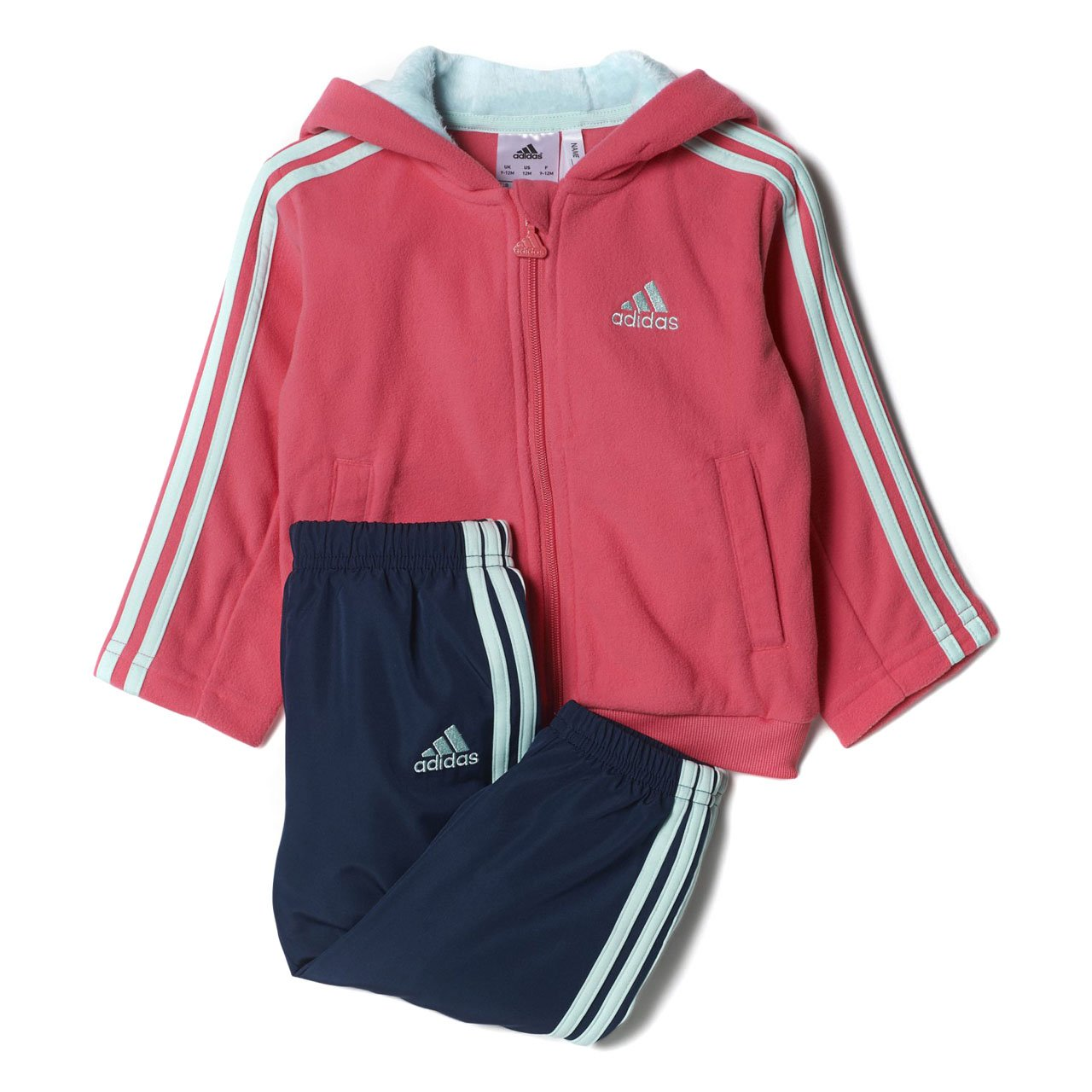 adidas Baby Girls Winter Fun Tracksuit in Pink