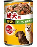 ペディグリー 成犬用 角切り ビーフ&緑黄色野菜 400g×24缶入り [ドッグフード・缶詰]