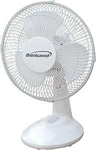 """Brentwood KoolZone F-9DW 9"""" Oscillating Desk Fan"""