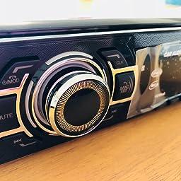 Amazon Co Jp Pomile カーオーディオ 1din Bluetooth対応 カーステレオ 車載mp3 Fmラジオプレーヤー76 0 90 0mhz ハンズフリー通話 Aux入力 Usb Sdカード対応 12v車用 一年保証 車 バイク
