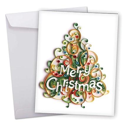 amazon com j6734jxsg jumbo merry christmas greeting card