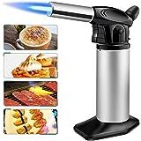 SUMGOTT Antorcha de Cocina Soplete de Cocina con Bloqueo de Seguridad Temperatura y Llama Ajustables para Crema Brulee, cocinar Alimentos
