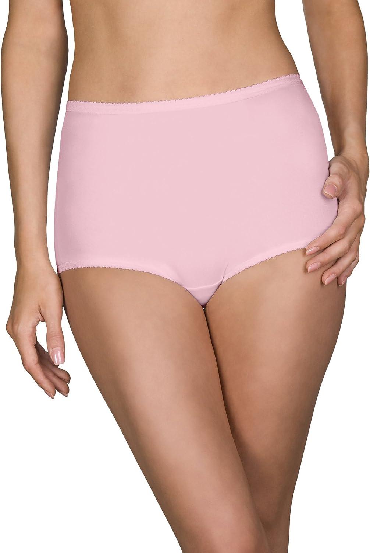 Shadowline Womens Plus Size Spandex Hi-Leg Brief 3-Pack