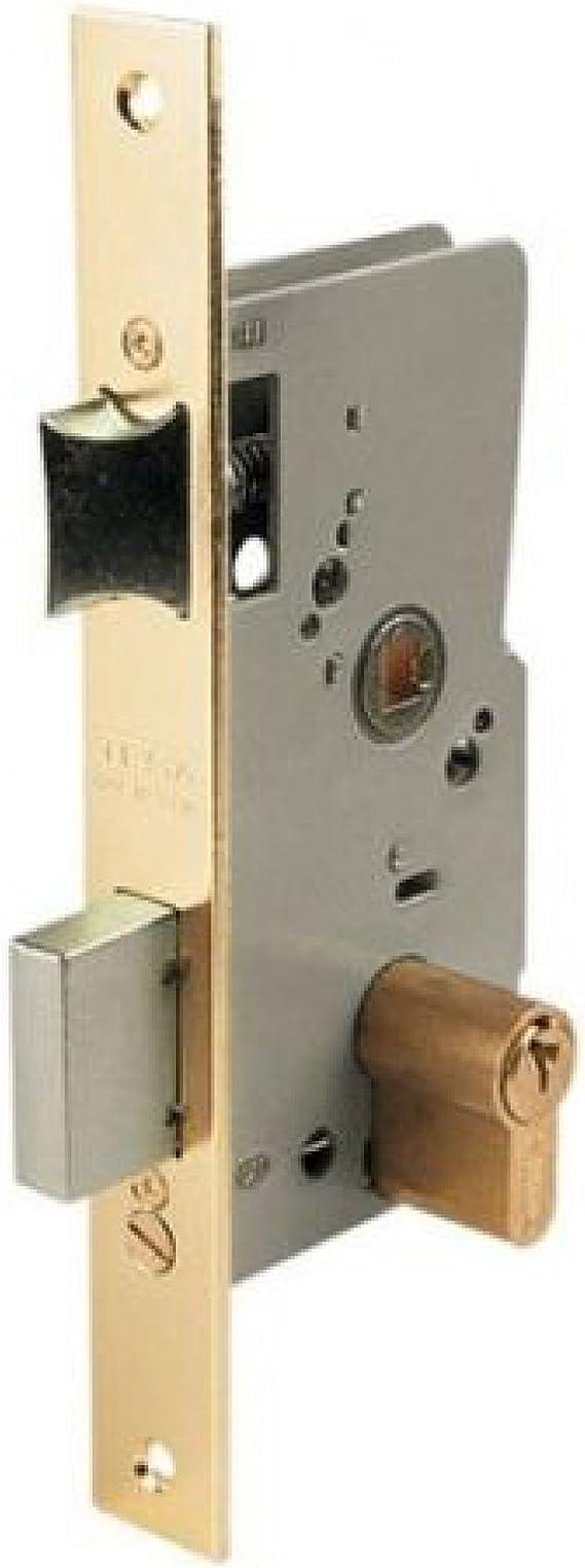 Tesa Assa Abloy, 20104PHL, Cerradura de embutir para puertas de madera, Función de entrada, Acero Latonado: Amazon.es: Bricolaje y herramientas