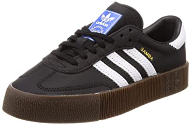 b973bd28d463 adidas Originals Women s Sambarose Shoes Black White Gum 6 ...