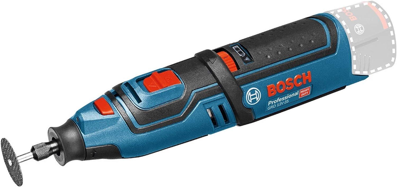 Bosch Professional GRO 12V-35 - Miniherramienta a batería (12V, 5000 – 35000 rpm, sin batería, en caja)