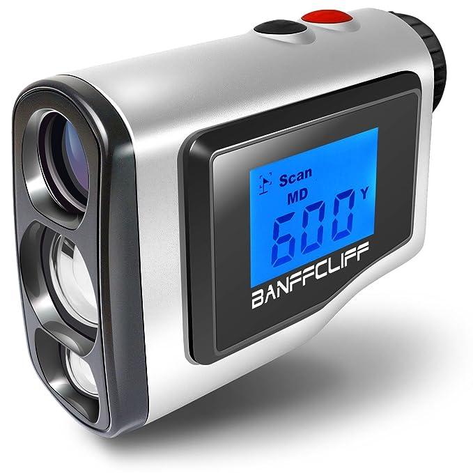 BanffCliff Laser Rangefinder, 656Yard/ 600M Outdoor Hunting Golf Range Finder, Distance Measure Meter Carry Case & Battery Included