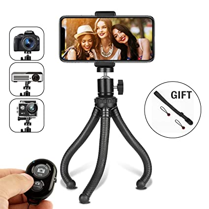 Amazon Com Phone Tripod Flexible Tripod For Iphone Android Phone