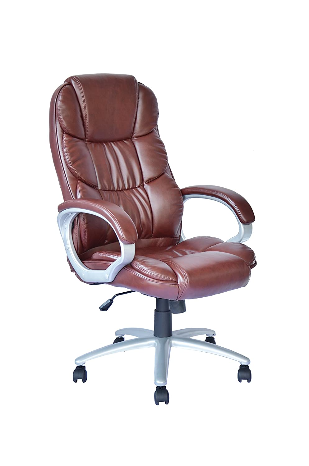 Cool Ergonomic Office Chair Desk Chair Pu Leather Computer Chair Task Rolling Swivel Executive Chair With Lumbar Support Armrest For Womenmen Brown Bralicious Painted Fabric Chair Ideas Braliciousco