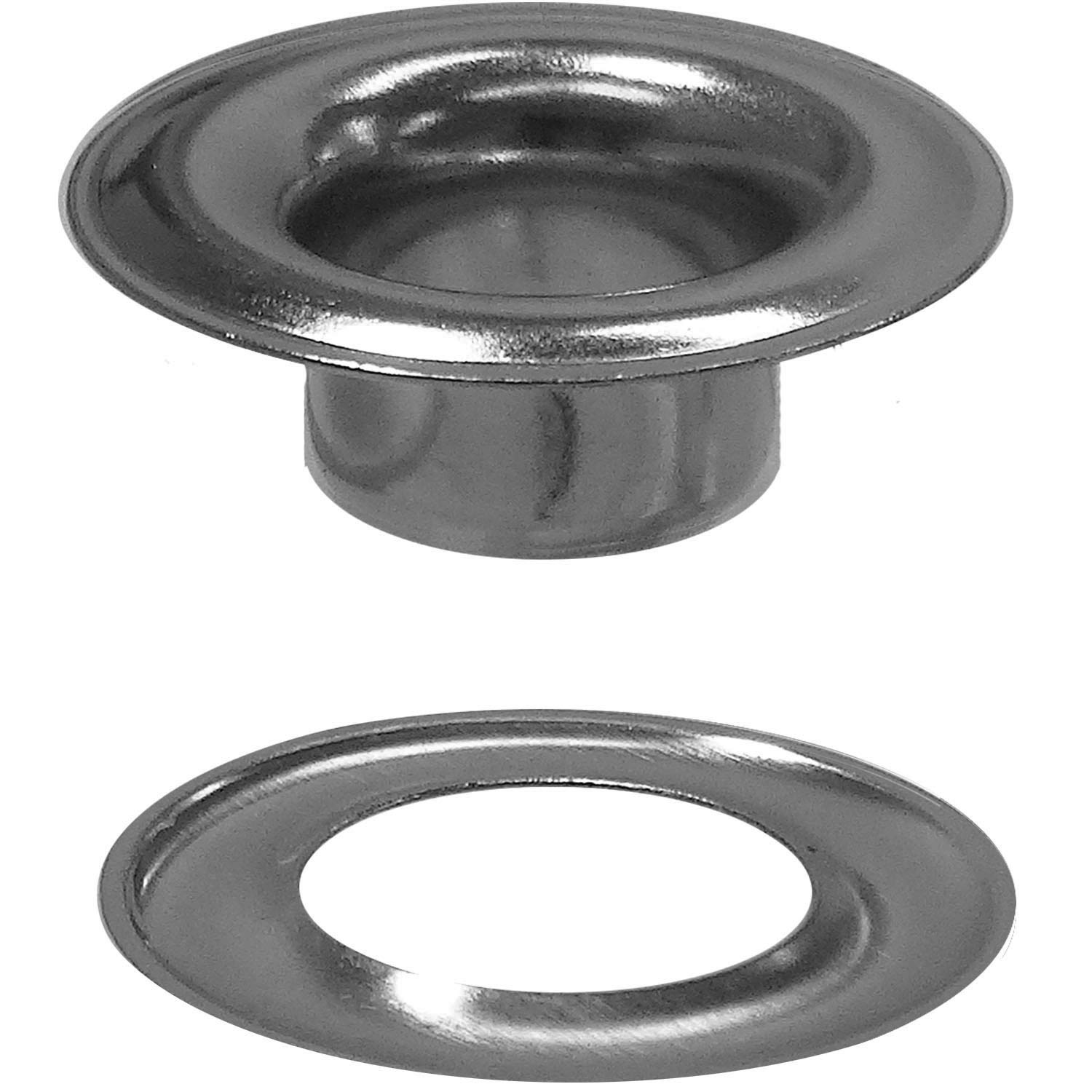 Stimpson Sheet Metal Grommet and Washer Nickel-Plated Durable, Reliable, Heavy-Duty #1 Set (3,600 Pieces of Each)