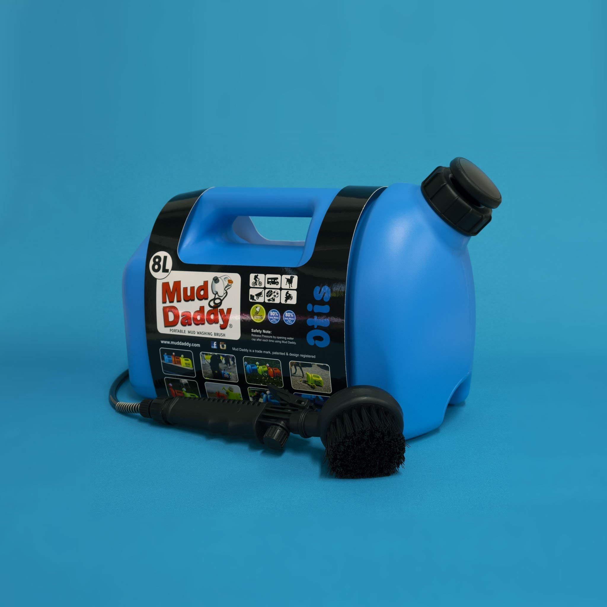 Mud Daddy 2.1 Gallon (8L) Portable Multi-Use Washing Device, Dogs, Horses, Bikes, Outdoor. (Blue) by Mud Daddy