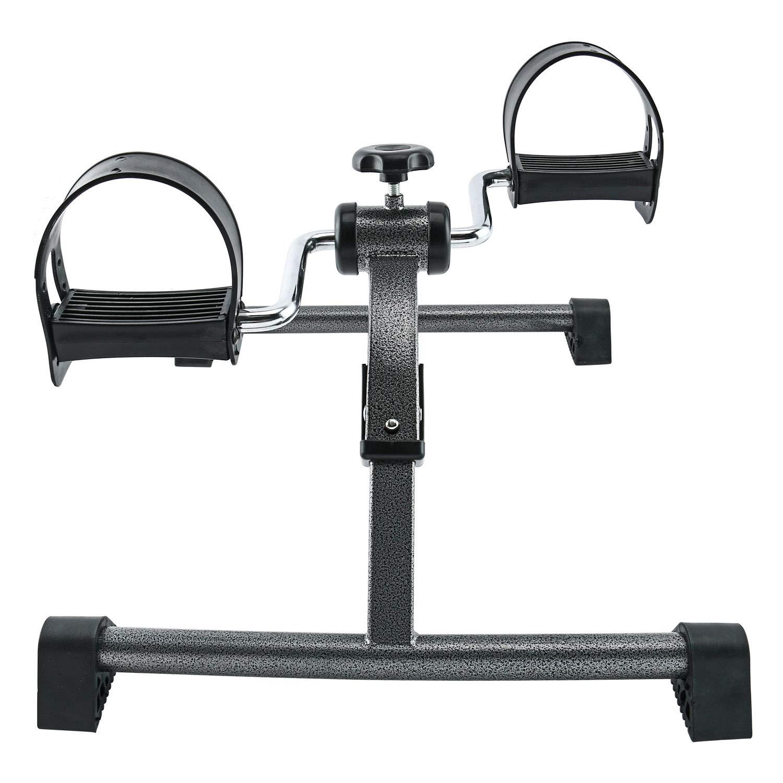 Yaegoo Pedal Exerciser Portable Folding Mini Bike Pedal Exerciser Fold-Up Exerciser with Tension Adjustment& Non-Slip Base