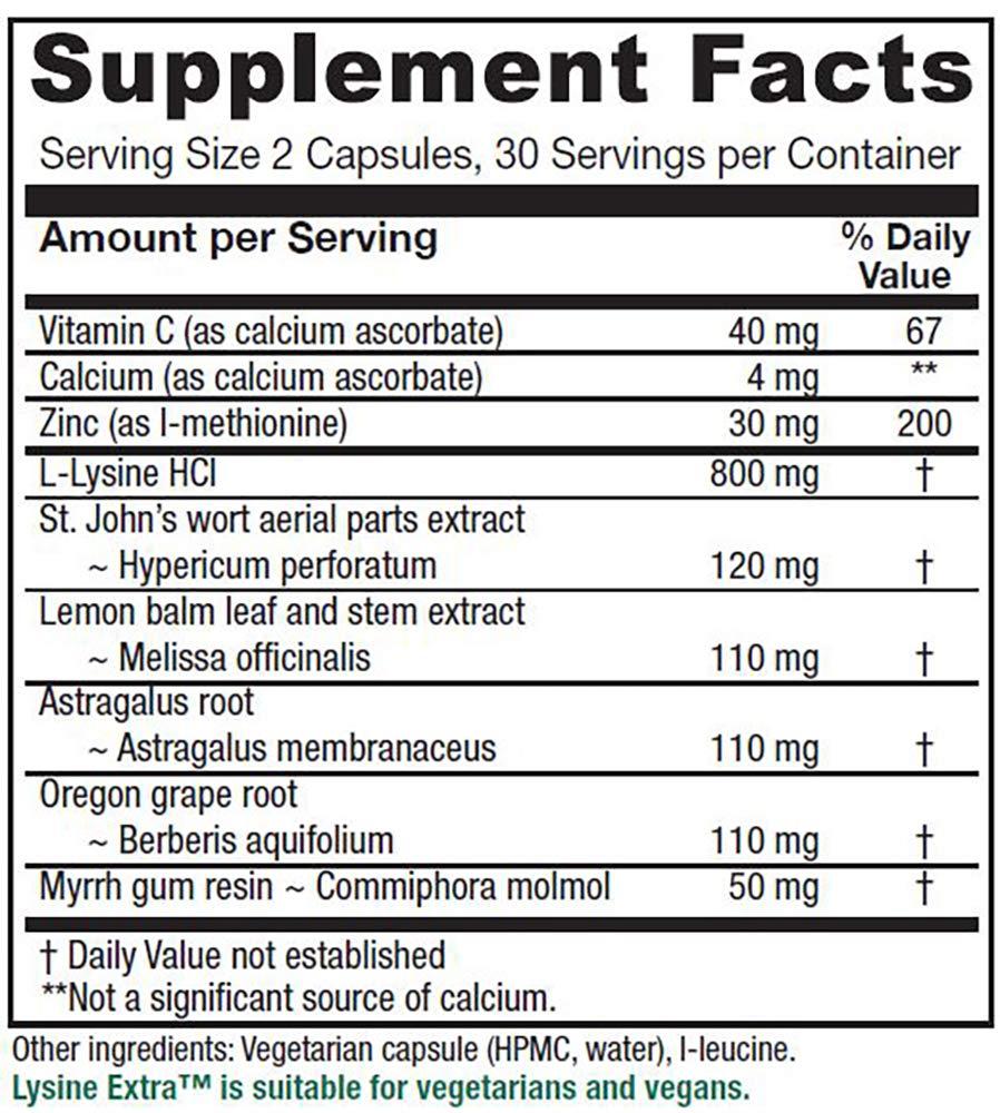 Vitanica Lysine Extra, Immune System Support, Vegan, 60 Capsules by Vitanica