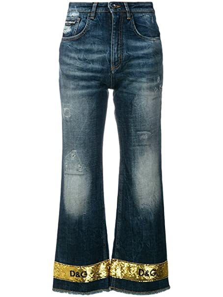 ba129aa331 DOLCE E GABBANA - Jeans - Donna Blau Marke Taglia 48: Amazon.it ...