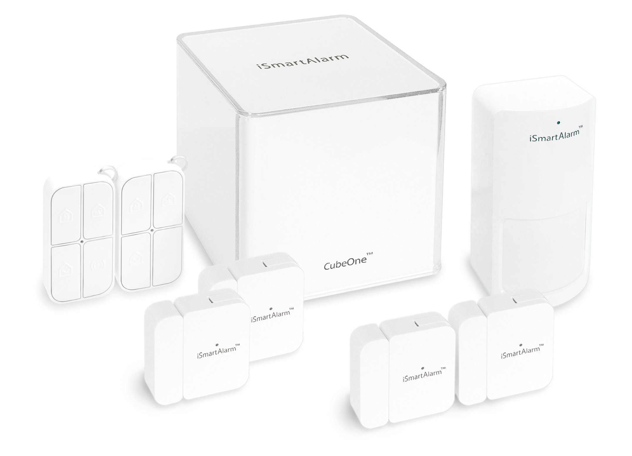 iSmartAlarm iSA5 Deluxe Package, White by iSmartAlarm