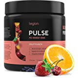 Legion Pulse, Best Natural Pre Workout Supplement for Women and Men – Powerful Nitric Oxide Pre Workout, Effective Pre Workou
