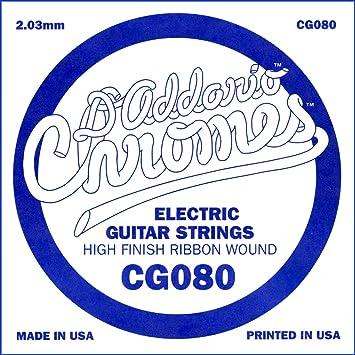DAddario - Cuerda Para Guitarra Eléctrica, 0.08, Transparente