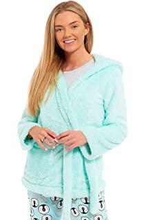 Ladies Womens Dressing Gown Marks and Spencer Fleece Snuggle Embossed Short  Robe Size UK 8 10… 009fa2e43