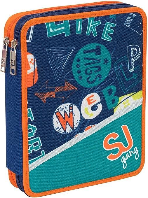 Estuche Maxi Seven SJ Gang Escuela 2 plantas Boy Niño Pleno + regalo Bolígrafo con purpurina + regalo marcapáginas: Amazon.es: Oficina y papelería