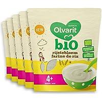 Olvarit Bio Rijstebloem 4+ maanden - pap - 5x 180 gram - babyvoeding