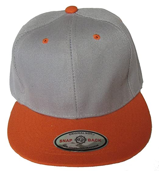 cd541350db2cc Image Unavailable. Image not available for. Color  NGH Premium Plain Two-Tone  Flat Bill Snapback Hat - Baseball Cap ...
