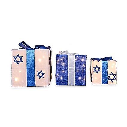 Outdoor Hanukkah Decoration Pre Lit Chanukkah Holiday Gift Boxes Yard Decor  Art Display - Amazon.com : Outdoor Hanukkah Decoration Pre Lit Chanukkah Holiday