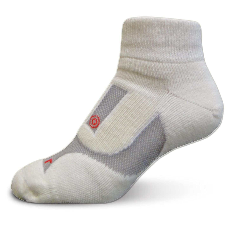 LifeSocks AirbornePlus Quarter, Merino Socks with Seacell Active