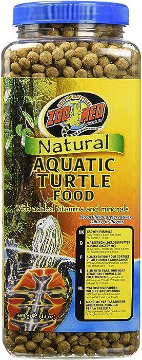 Zoo Med Natural Aquatic Turtle Food (Pellets) 13 oz - Pack of 3