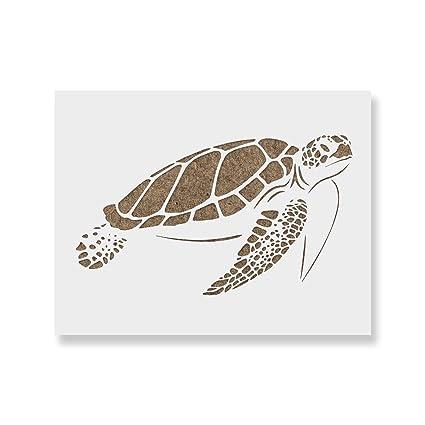 Sea Turtle Stencil Template