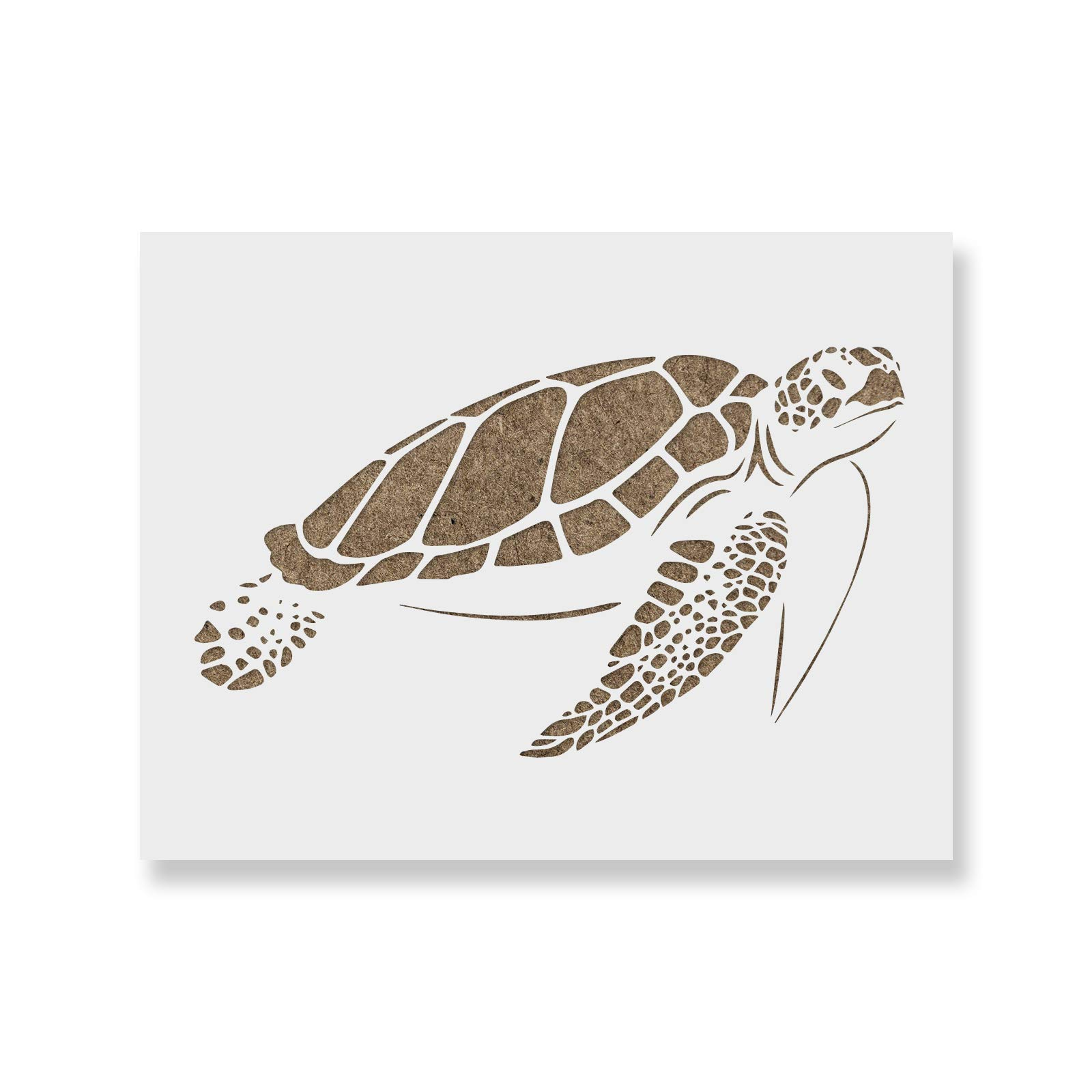 Sea Turtle Stencil Template - Reusable Stencil with Multiple Sizes Available
