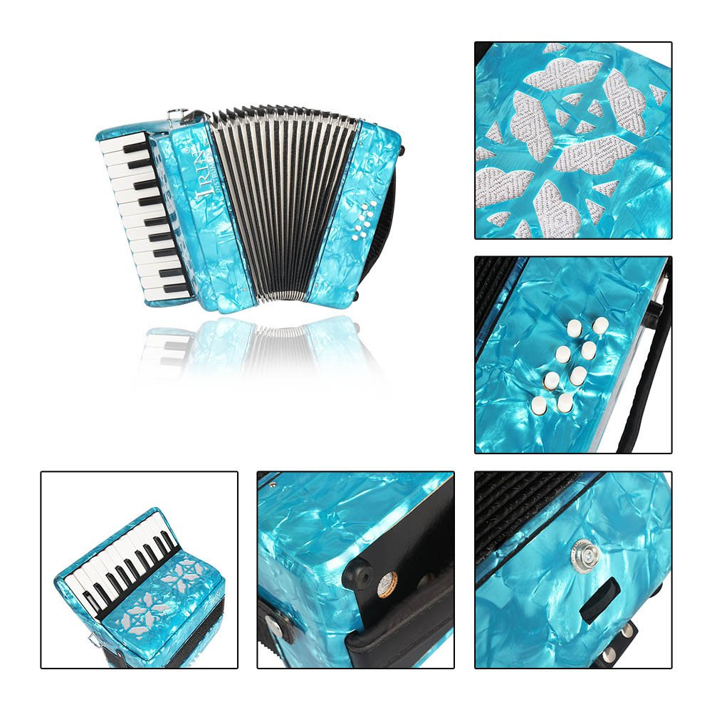 ammoon 22-Key 8 Bass Piano Accordion with Straps Gloves Cleaning Cloth Educational Music Instrument for Students Beginners Childern by ammoon (Image #5)