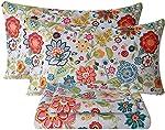 Bedlifes King Sheet Set Floral Sheets Ultra Soft Flower Patterned Printed
