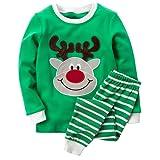 Amazon Price History for:B.GKAKA Little Boys Christmas Pajamas Santa Fire-engine Sleepwear for Kids Size 2-8Y